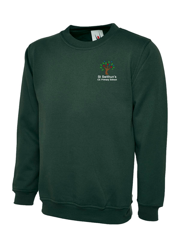St Swithun's CE Primary School Jumper Bottle Green - UC202