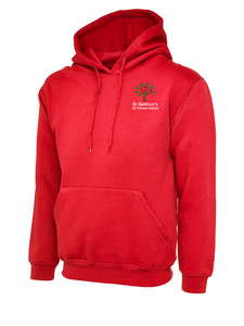 St Swithun's CE Primary School Red Hooded Top - AWD JH01J