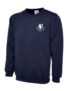Unicorn Branded School Sweatshirt for (School Years 2-6) Embroidered White Unicorn Logo (UC202Navy)