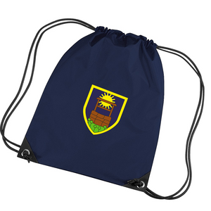 Sunningwell Primary Branded Gym Sack (BG010F/Navy)