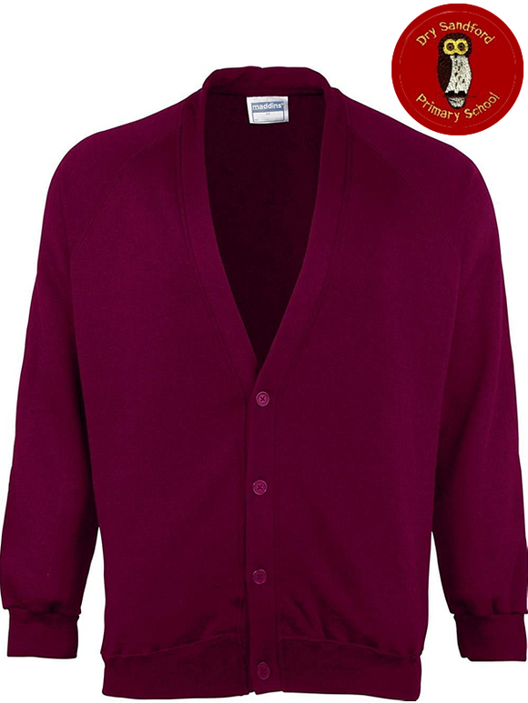 Dry Sandford Primary School Cardigan (MD04BMaroon)