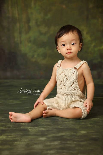 Knit Lace Overalls