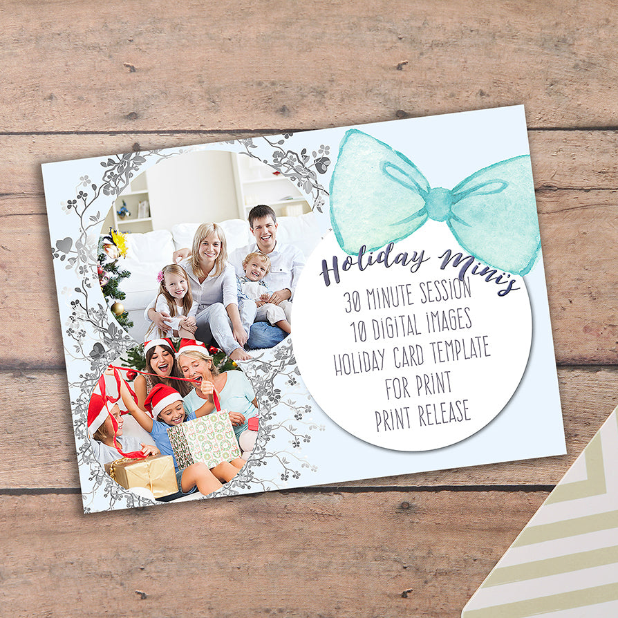 Blue Holiday Minis 5x7 Marketing Template