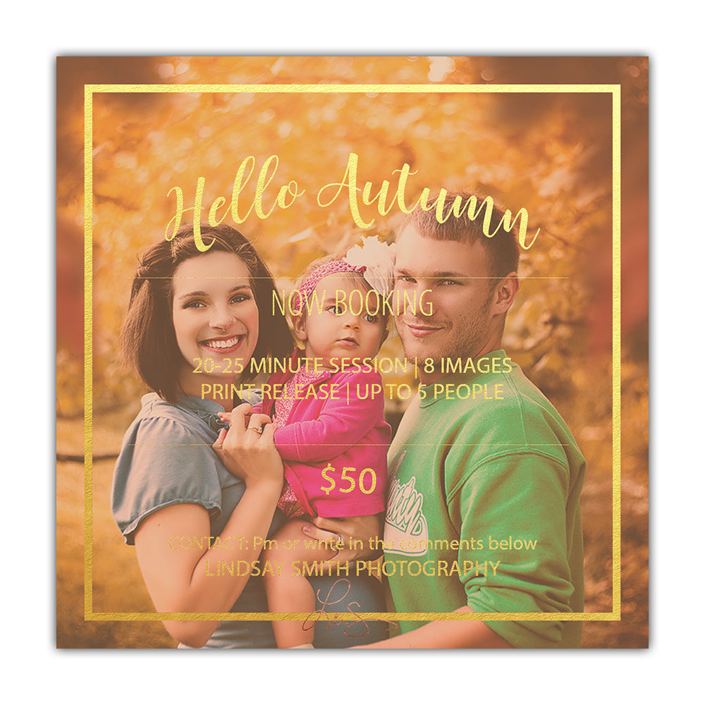 Fall 5x5 Mini Marketing Template