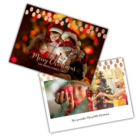 Christmas Dots 5x7 Marketing Template
