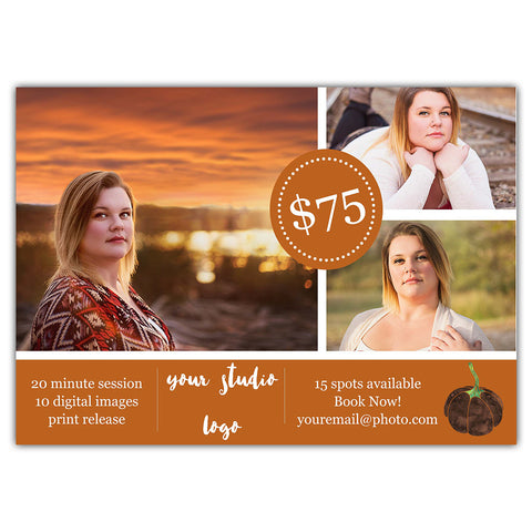 Fall Mini Marketing Template 5x7 and Facebook Cover