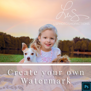 Create your own Watermark - Photoshop Action