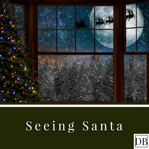 Seeing Santa - Digital Background