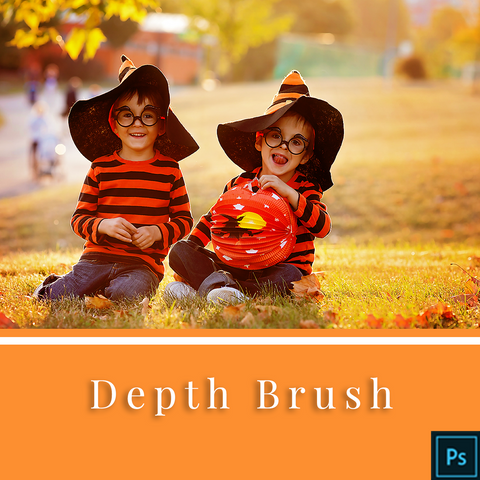 Depth Brush Action for Photoshop