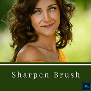 Sharpen Brush - Action for Adobe Photoshop