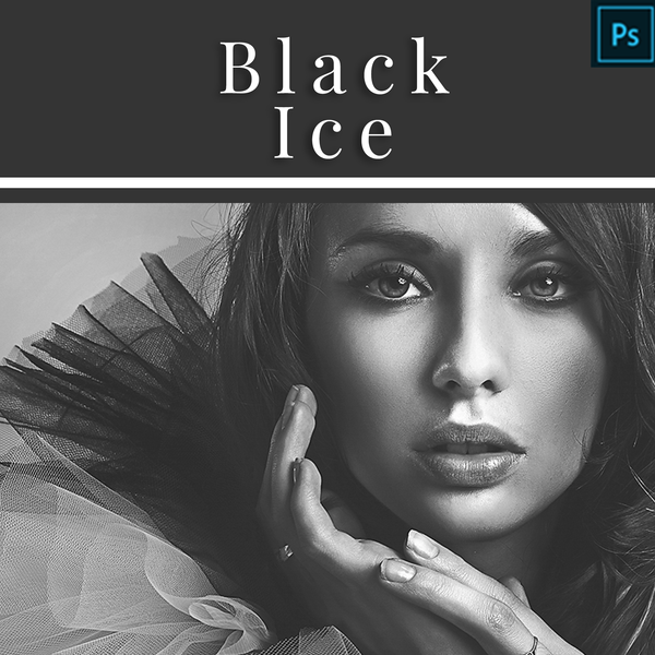 Black Ice (Black and White) - Actions for Photoshop