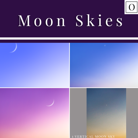 Moon Skies - Overlays for Photoshop, PicMonkey, and more...