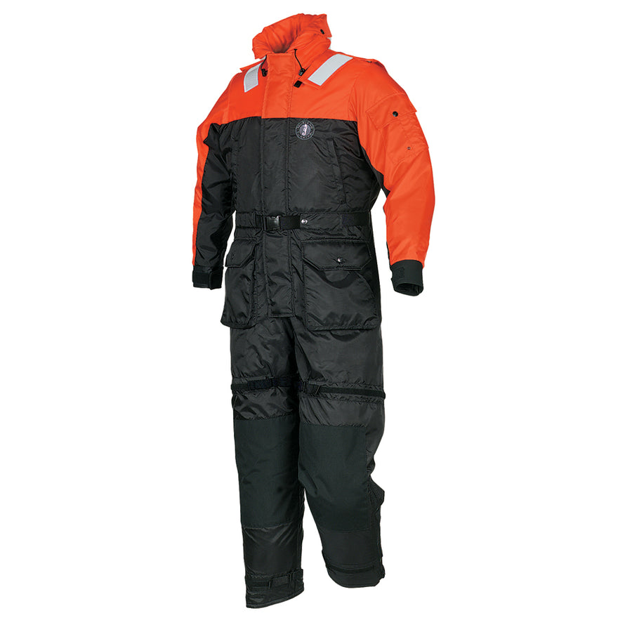 Mustang Deluxe Anti-Exposure Coverall & Worksuit - LG - Orange-Black [MS2175-L-OR-BK]