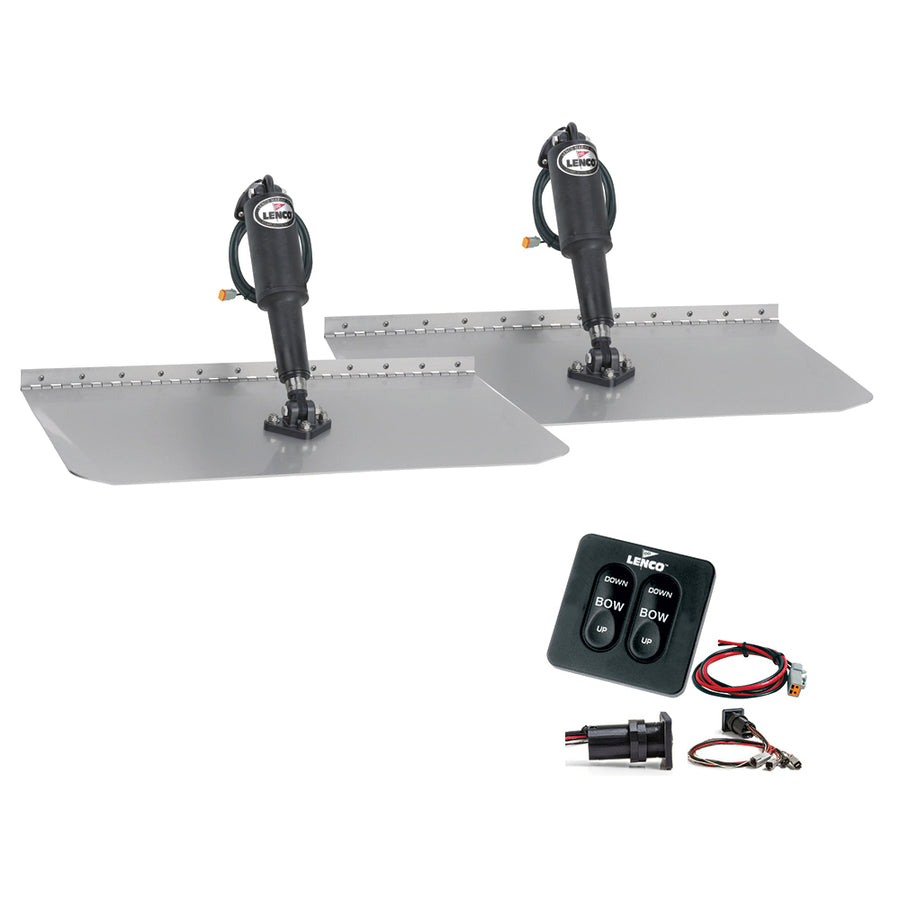 "Lenco 12"" x 18"" Standard Trim Tab Kit w-Standard Tactile Switch Kit 12V [TT12X18]"