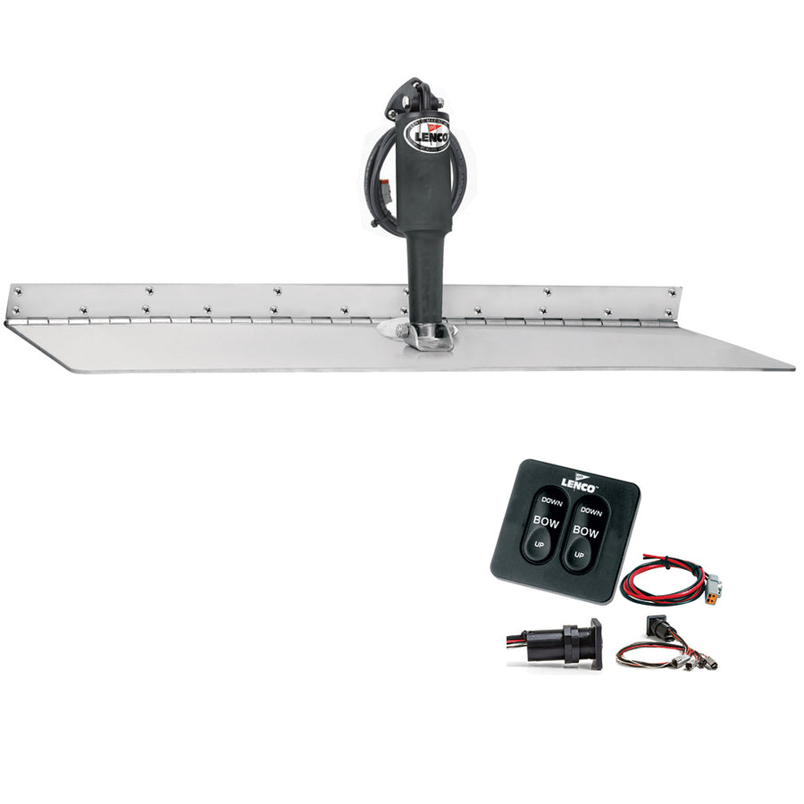 "Lenco 12"" x 24"" Super Strong Trim Tab Kit w-Standard Tactile Switch Kit 12V [TT12X24SS]"