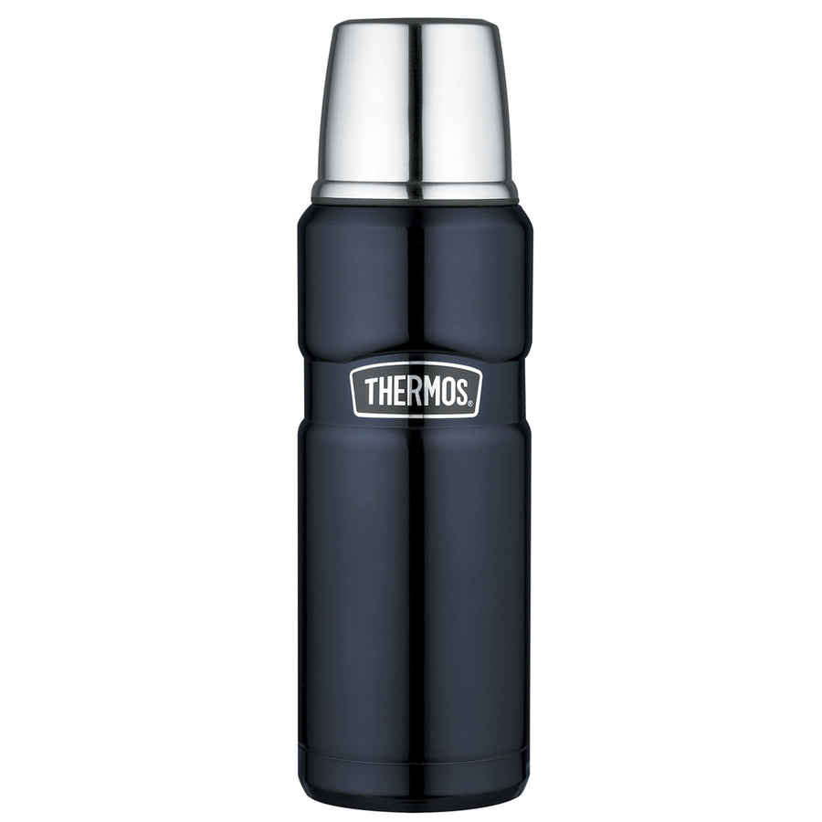 Thermos Stainless King Vacuum Insulated Beverage Bottle - 16 oz. - Stainless Steel/Midnight Blue [SK2000MBTRI4]