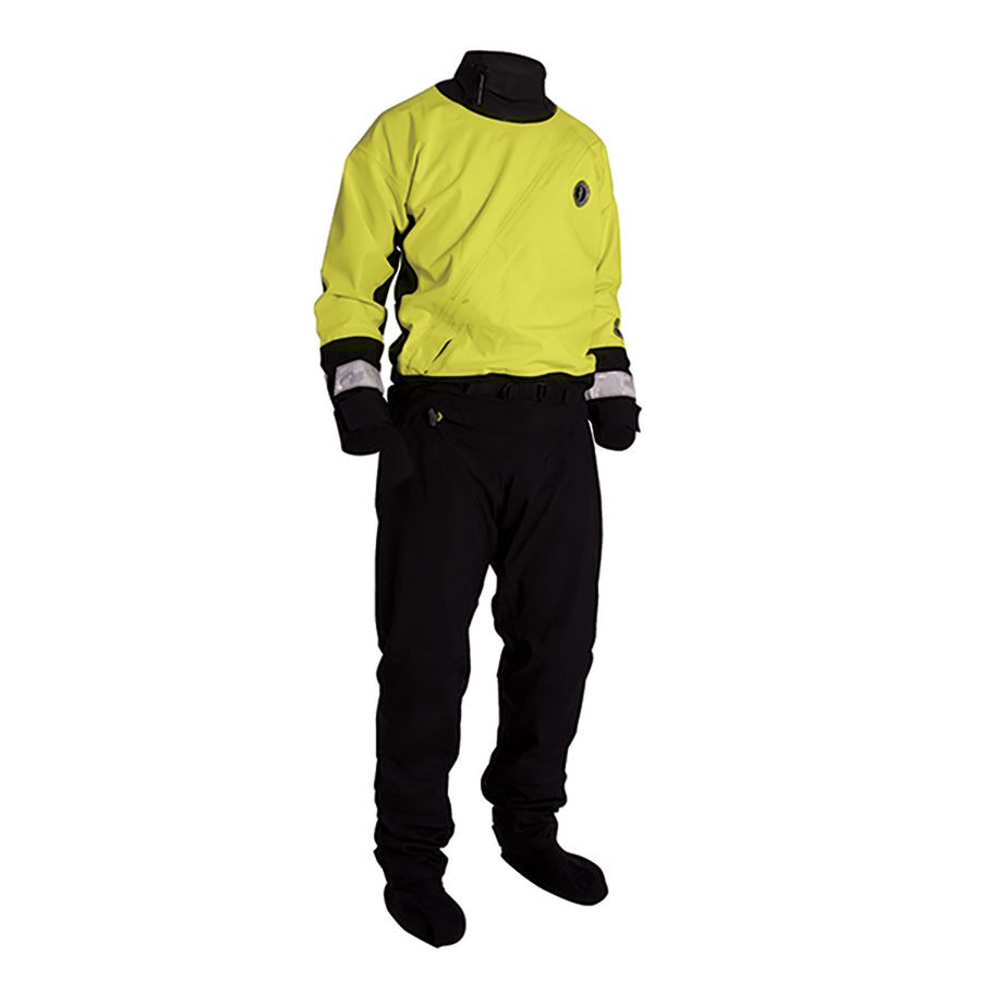 Mustang Water Rescue Dry Suit - MED - Yellow-Black [MSD576-M]