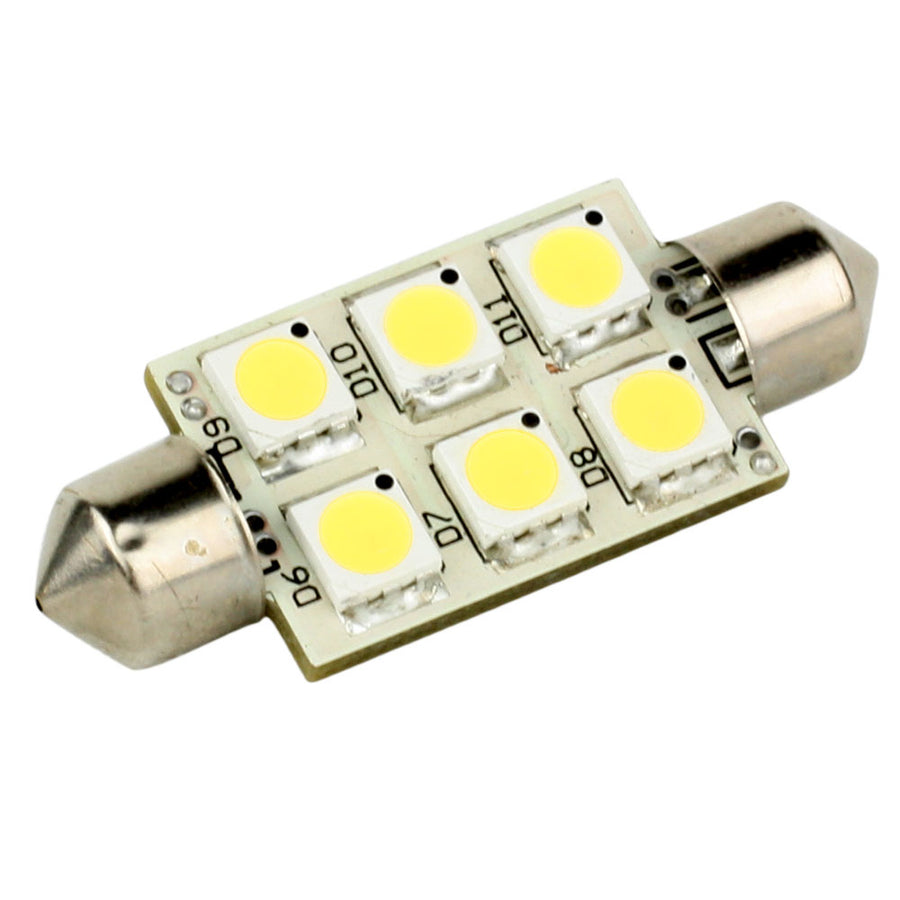 Lunasea Single-Sided 6 LED Festoon - 10-30VDC-1.5W-97 Lumens - Warm White [LLB-186W-21-00]