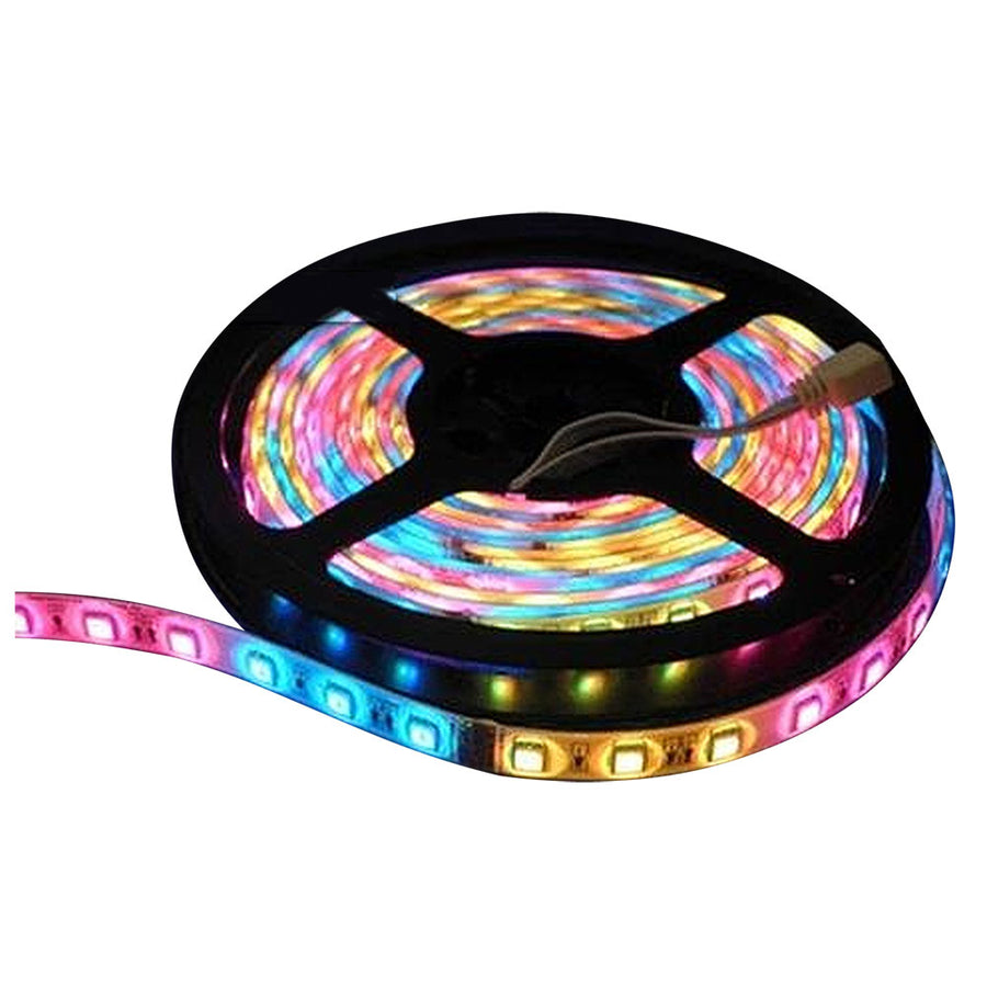 Lunasea Flexible Strip LED - 5M w-Connector - Red-Green-Blue - 12V [LLB-453M-01-05]