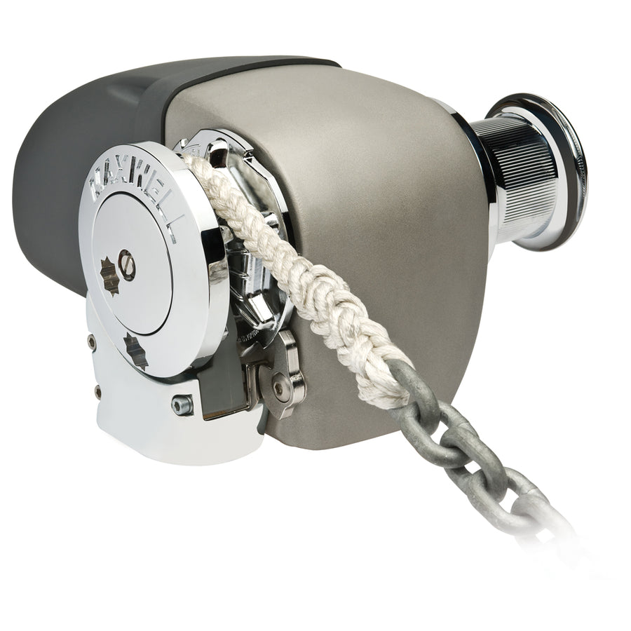 "Maxwell HRC 10-8 Rope Chain Horizontal Windlass 5-16"" Chain, 5-8"" Rope 12V, with Capstan [HRC10812V]"