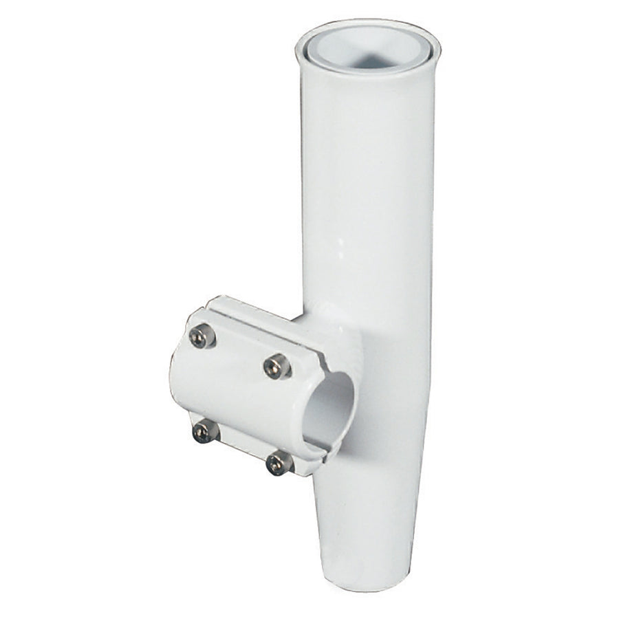 "Lee's Clamp-On Rod Holder - White Aluminum - Horizontal Mount - Fits 1.315"" O.D. Pipe [RA5202WH]"
