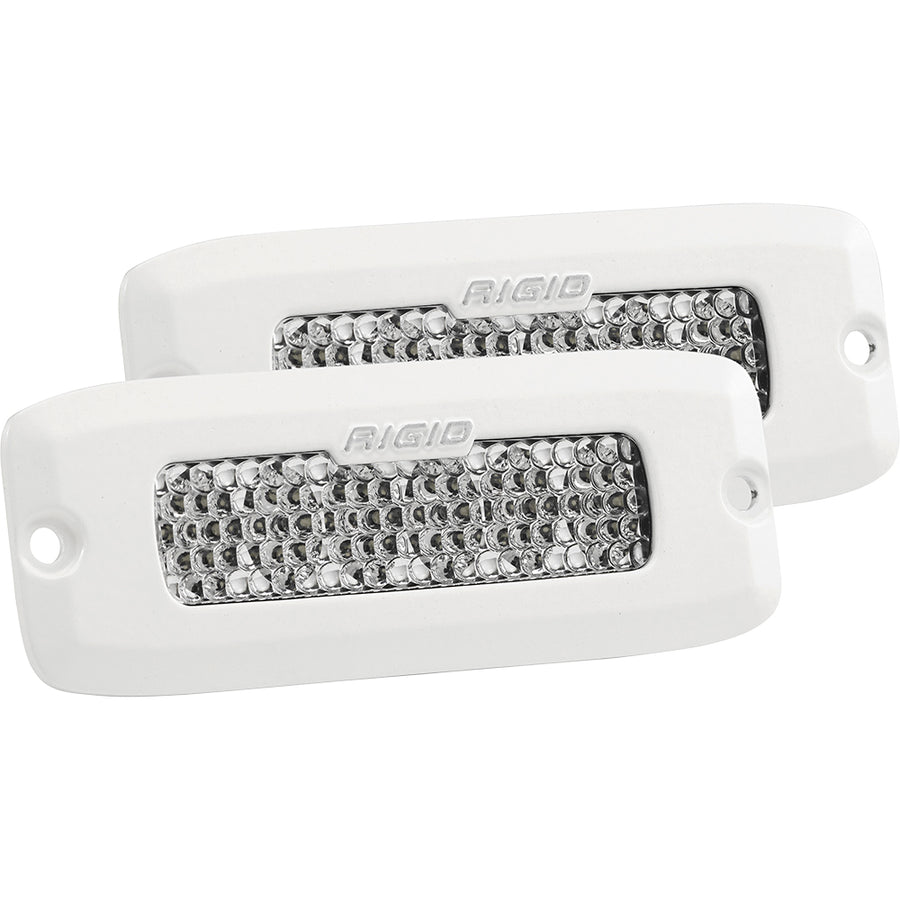 RIGID Industries SR-Q Series PRO Hybrid-Diffused LED - Flush Mount - Pair - White [965513]