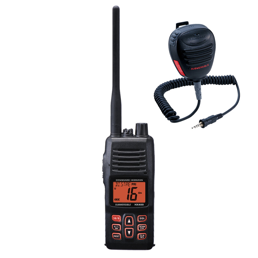 Standard Horizon HX400IS VHF w-FREE CMP460 Microphone [HX400IS-CMP460]