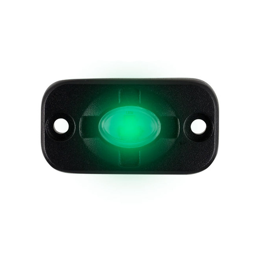 "HEISE Auxiliary Accent Lighting Pod - 1.5"" x 3"" - Black-Green [HE-TL1G]"