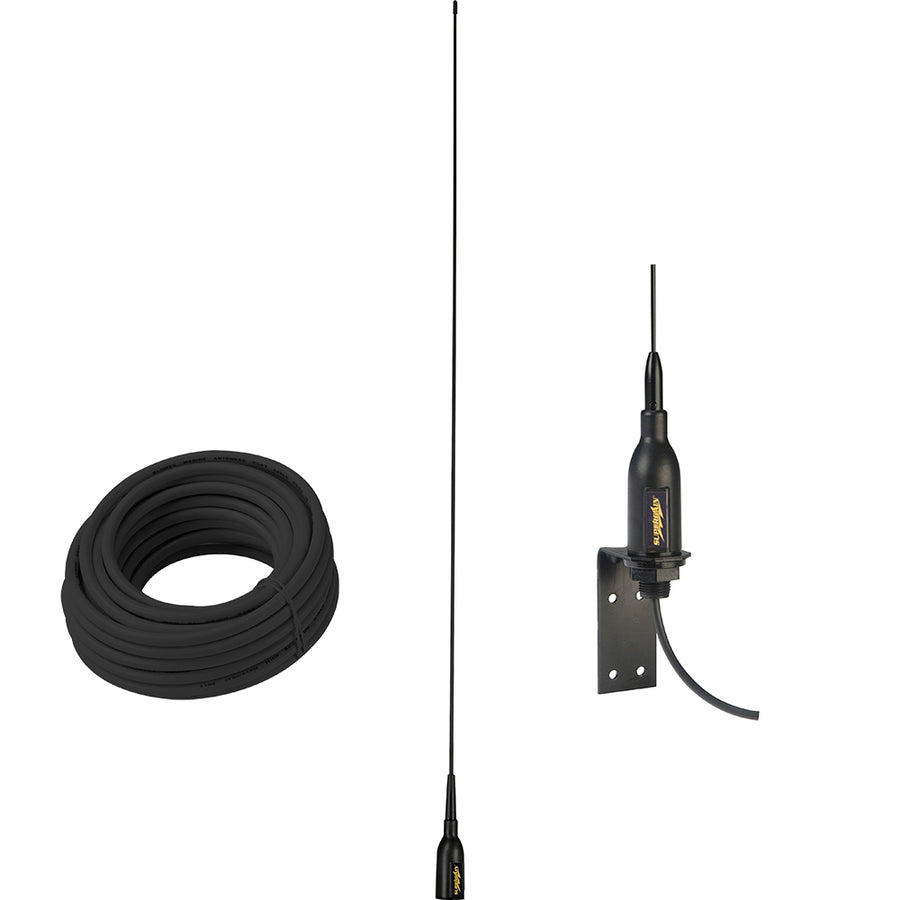 "Glomex AIS Antenna w-Supplied ""L"" Bracket  66 Coax Cable [SGA100SBBK]"