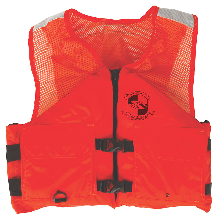 Stearns Work Zone Gear Life Vest - Orange - Large [2000011357]
