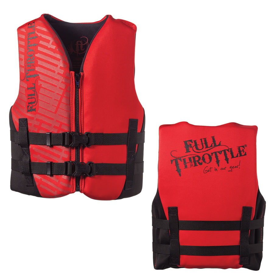 Full Throttle Rapid-Dry Life Vest - Youth 50-90lbs - Red-Black [142100-100-002-19]