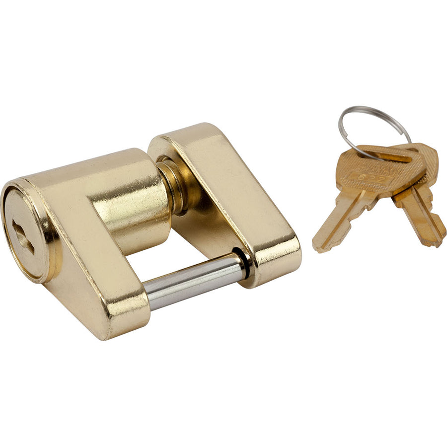 Sea-Dog Brass Plated Coupler Lock - 2 Piece [751030-1]