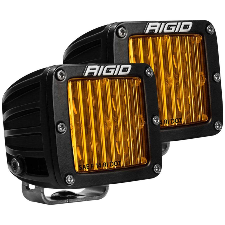 RIGID Industries D-Series SAE Compliant Fog Light - Black w-Yellow Light [504814]
