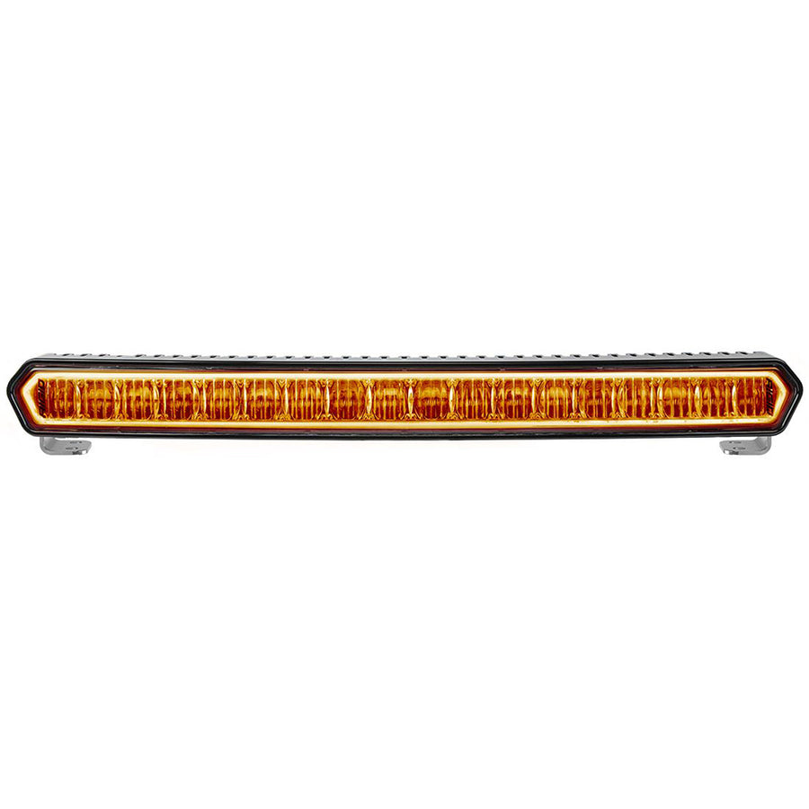 "RIGID Industries SR-L Series 20"" Off-Road LED Light Bar - Black w-Amber Halo Back Lighting [63003]"