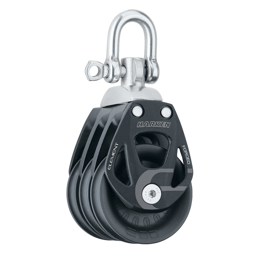 Harken 60mm Triple Aluminum Element Block w-Swivel [6272]