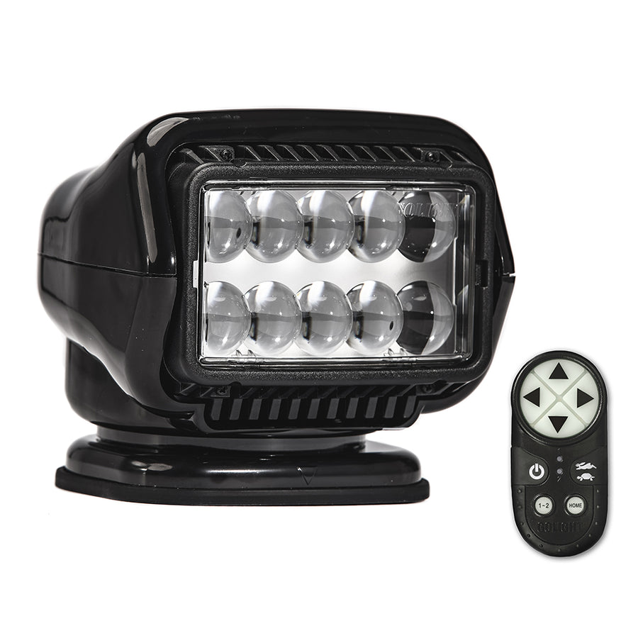 Golight Stryker ST Series Permanent Mount Black LED w-Wireless Handheld Remote [30514ST]