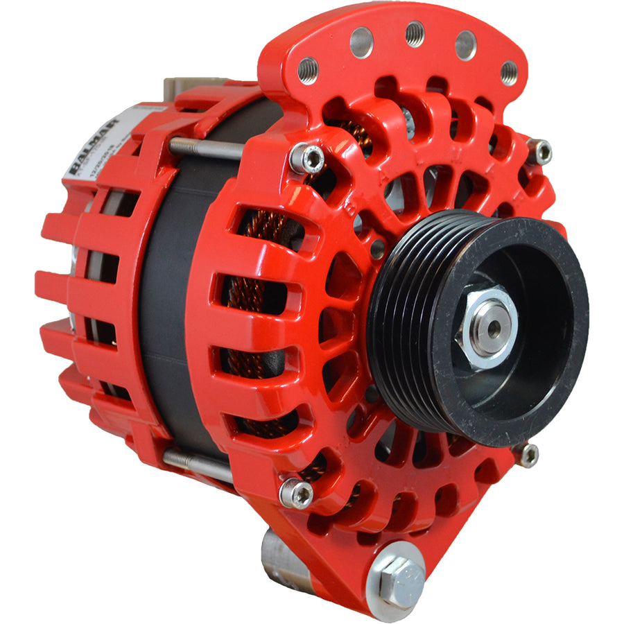"Balmar Alternator 170AMP, 12V, 1-2"" Single Foot K6 Pulley w/Isolated Grounding [XT-SF-170-K6-IG]"