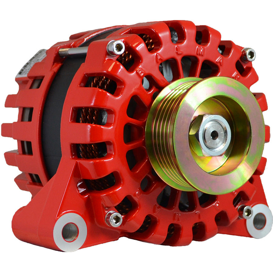 Balmar Alternator 170AMP, 12V, Vortec Mount, K6 Pulley w/Isolated Grounding [XT-VT-170-K6-IG]