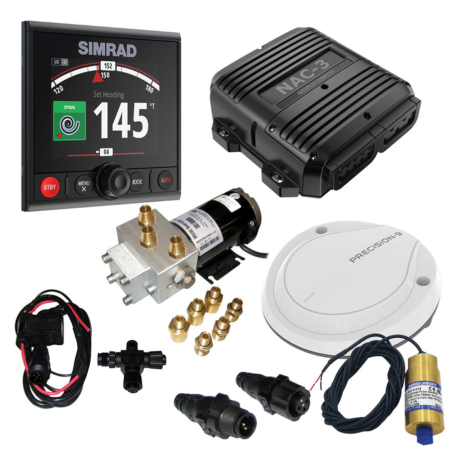 Simrad AP44 High VRF Pack w/SteadySteer - Includes AP44, NAC-3, Precision 9  RPU160 or Pump-3, N2k Starter Kit  SteadySteer Flow Switch [000-15748-001]