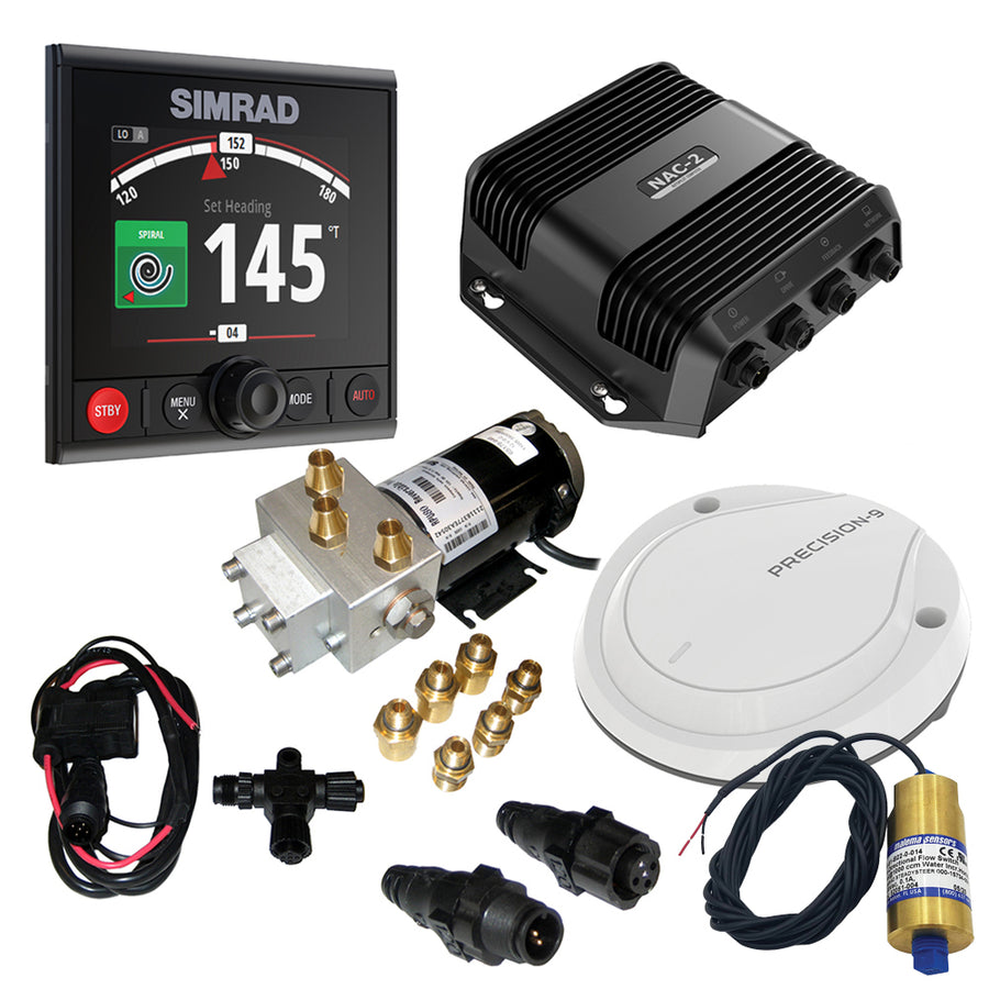 Simrad AP44 VRF Medium Capacity Pack w/SteadySteer - Includes SteadySteer Flow Switch, AP44, NAC-2, Precision-9, N2k Starter Kit  Pump-2 [000-15747-001]