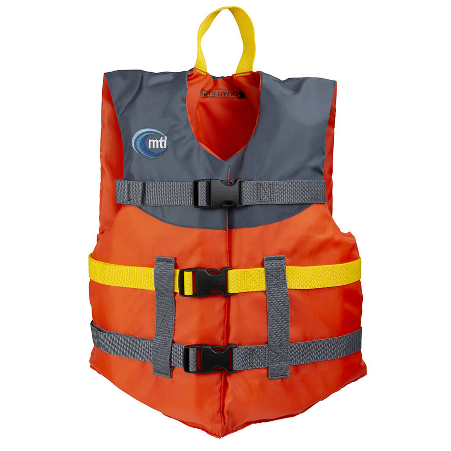 MTI Youth Livery Life Jacket - Orange/Carbon - 50-90lbs [MV230J-187]