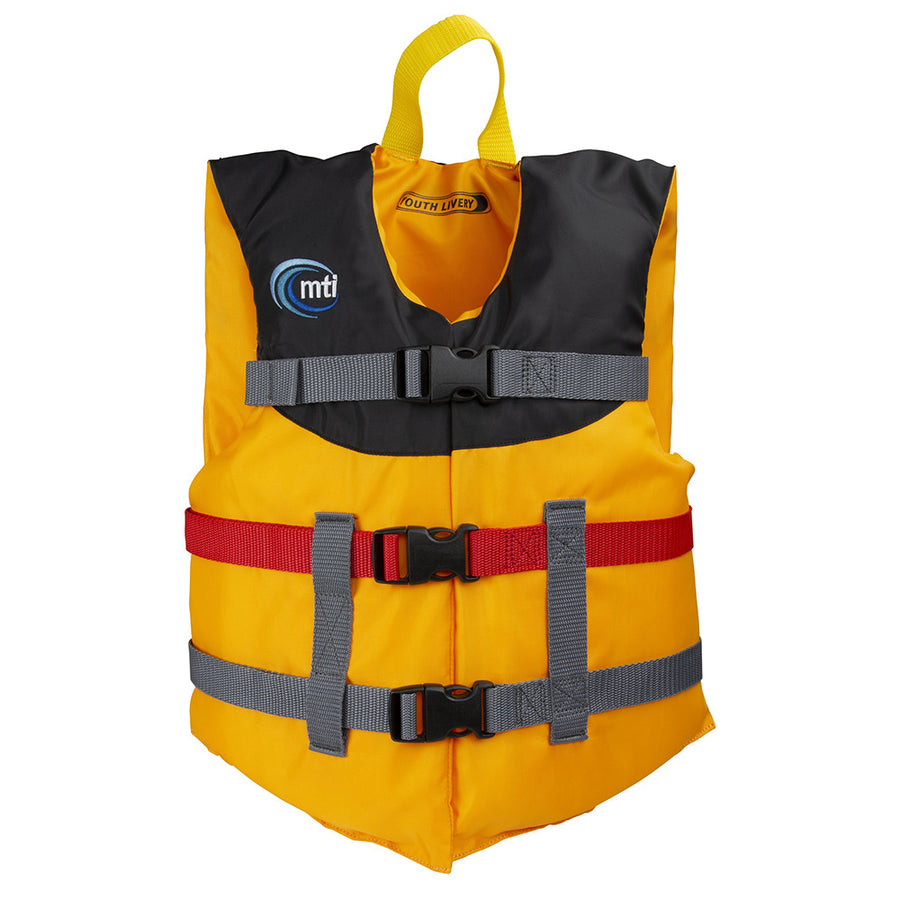 MTI Youth Livery Life Jacket - Mango/Black - 50-90lbs [MV230J-203]