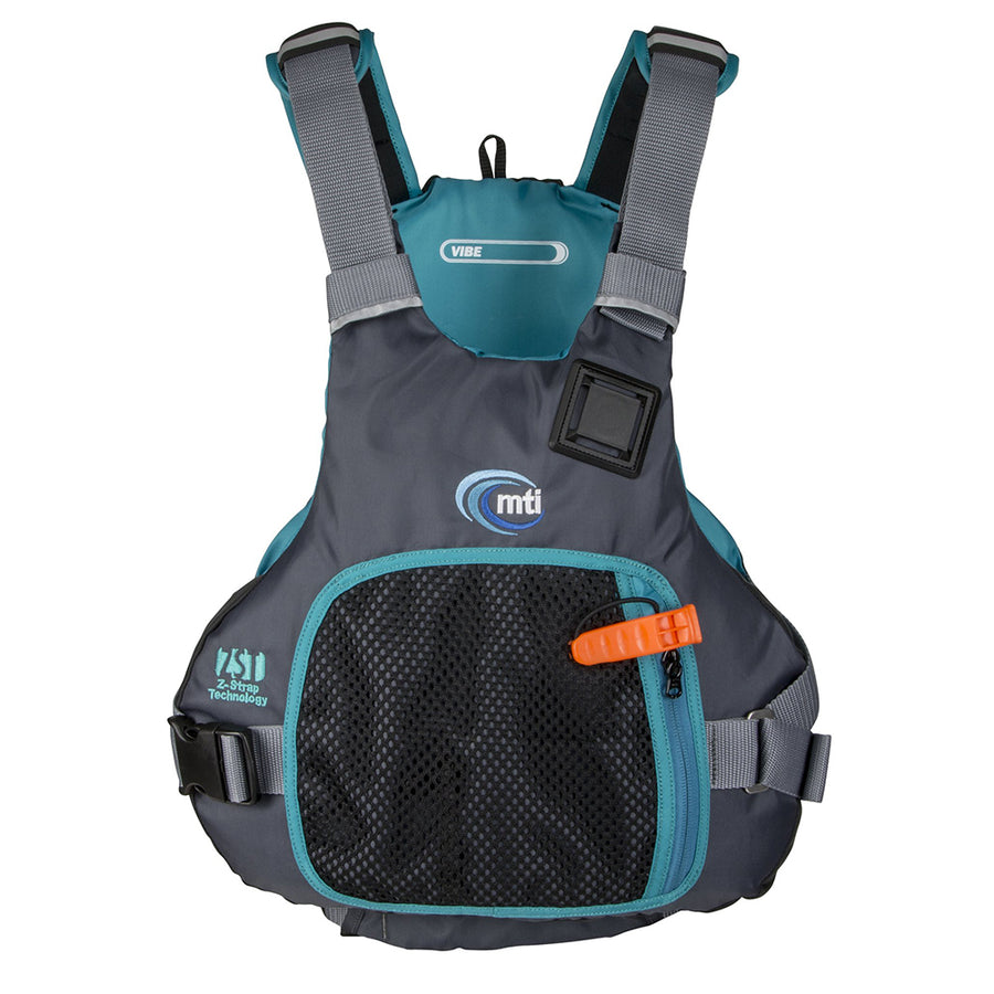 MTI Vibe Life Jacket - Black/Turquoise - Small/Medium [MV706F-S/M-845]