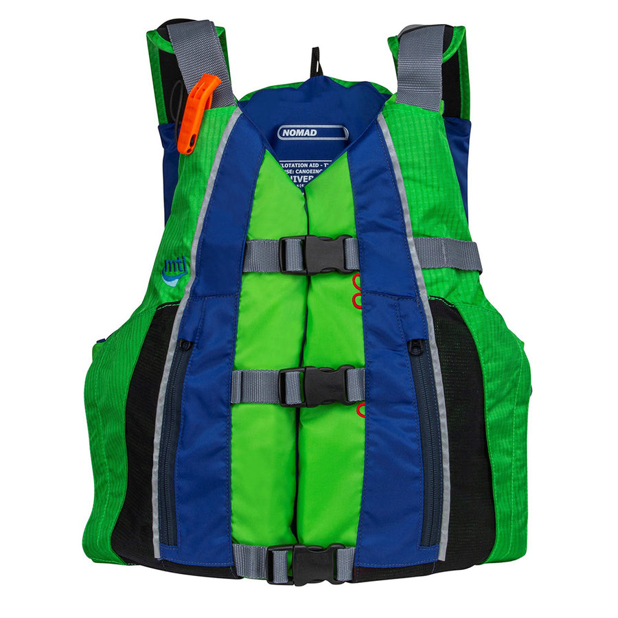 MTI Nomad Life Jacket - Bright Green/Blue [MV411F-813]