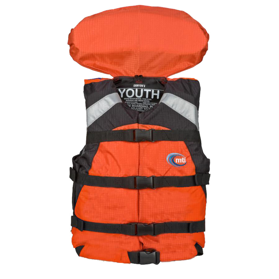 MTI Youth Canyon V Rafting Life Jacket - Orange [MV907Y-2]