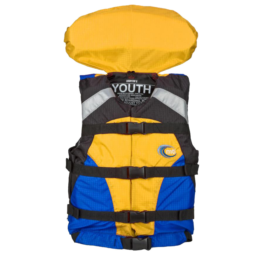 MTI Youth Canyon V Rafting Life Jacket - Blue/Yellow [MV907Y-810]