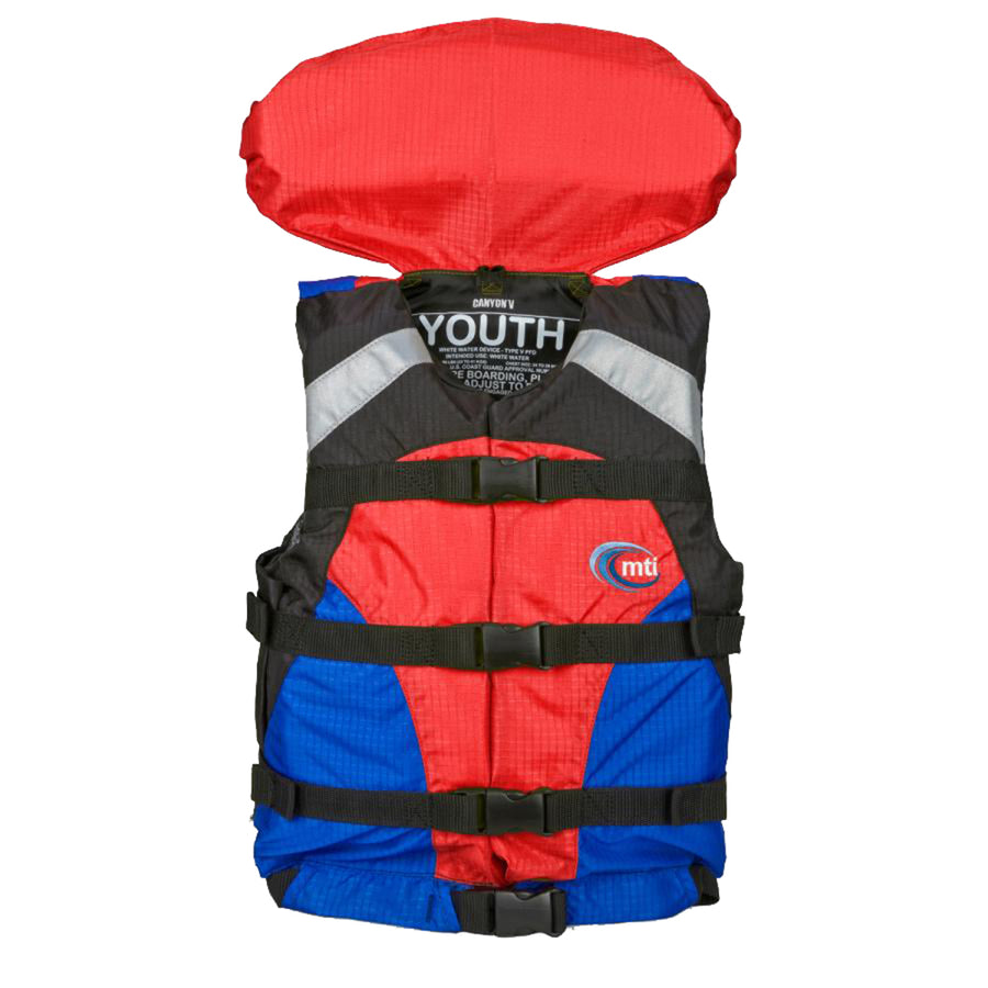 MTI Youth Canyon V Rafting Life Jacket - Blue/Red [MV907Y-854]