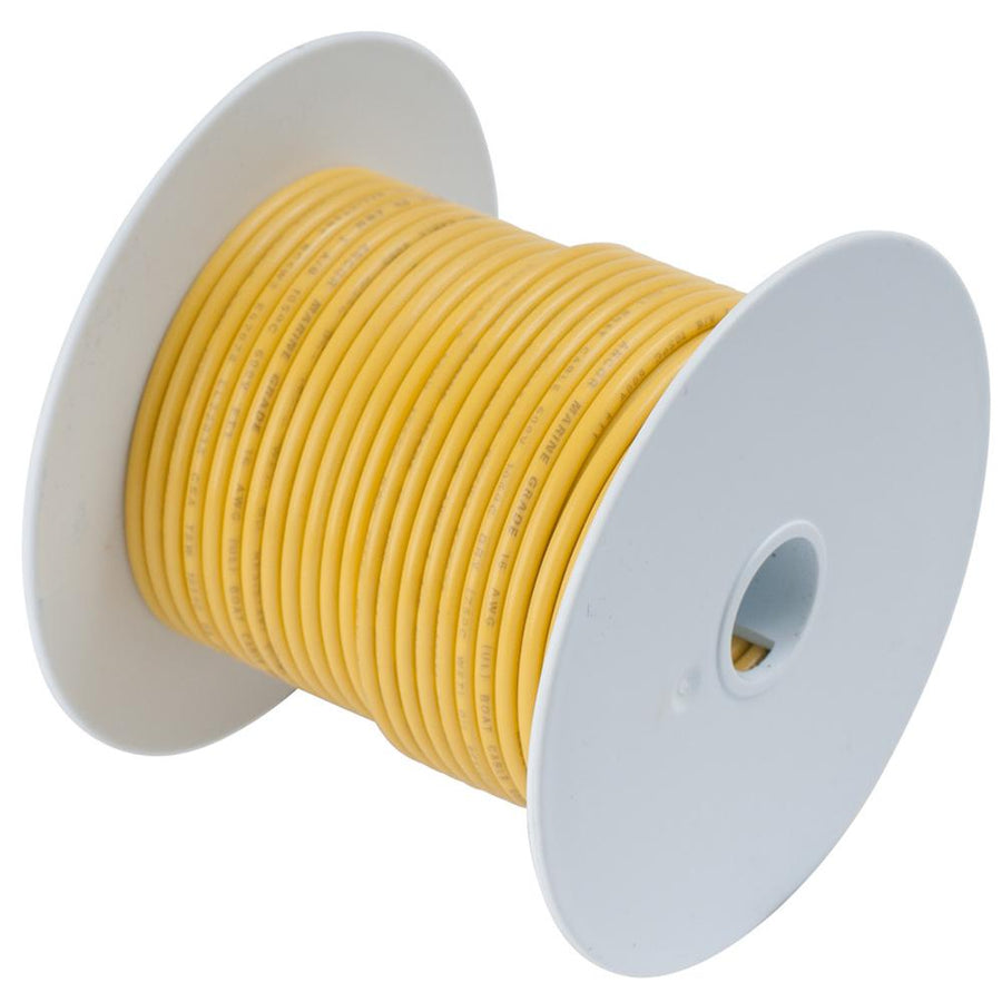 Ancor Yellow 14 AWG Tinned Copper Wire - 18' [185003] - 10X Marine