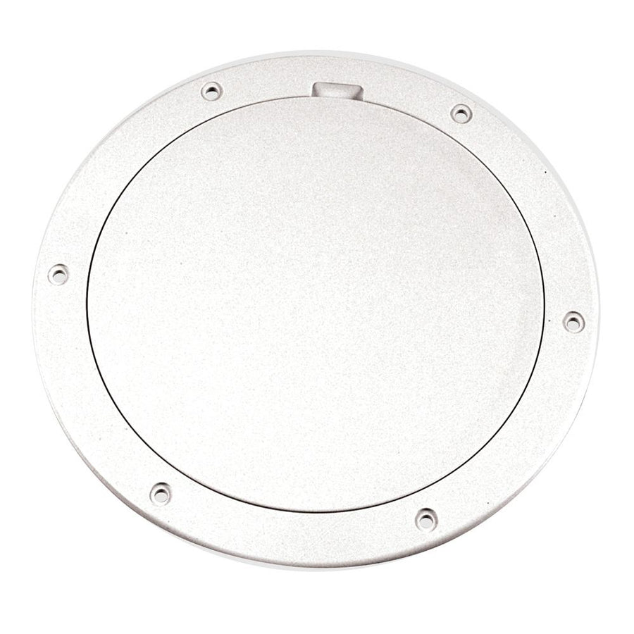 "Beckson 6"" Smooth Center Pry-Out Deck Plate - White [DP61-W] - 10X Marine"