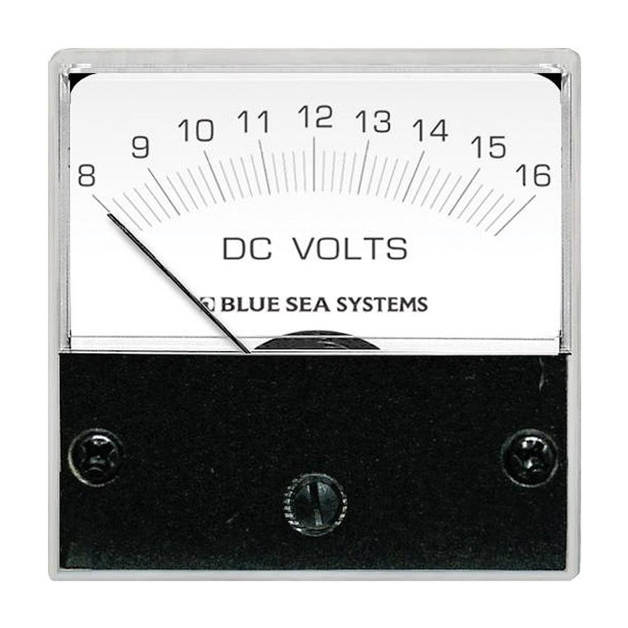 "Blue Sea 8028 DC Analog Micro Voltmeter - 2"" Face, 8-16 Volts DC [8028] - 10X Marine"